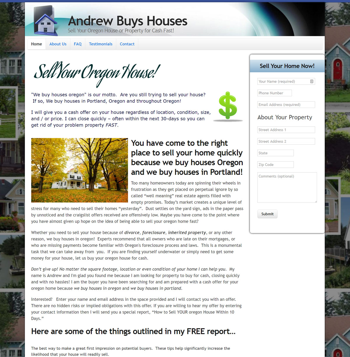 Andrew Buys Houses screenshot.